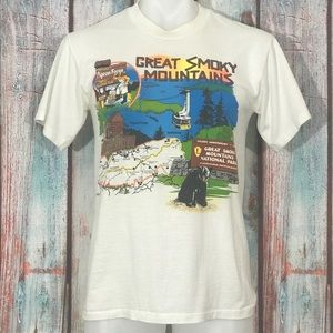 VTG Great Smoky Mountains T Shirt M Single Stitch